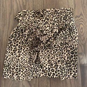 WORN ONCE Flowy Cheetah Shorts with tie